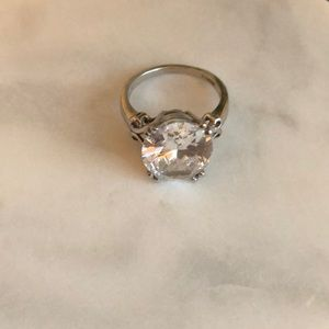 Jewelry - 14kt White Gold Cubic Zirconia Engagement Ring
